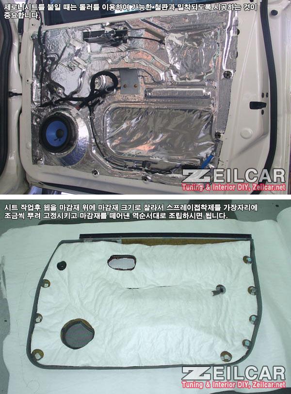 자동차방음, 제로니시트, 도어 방음세트 흡음제 일반