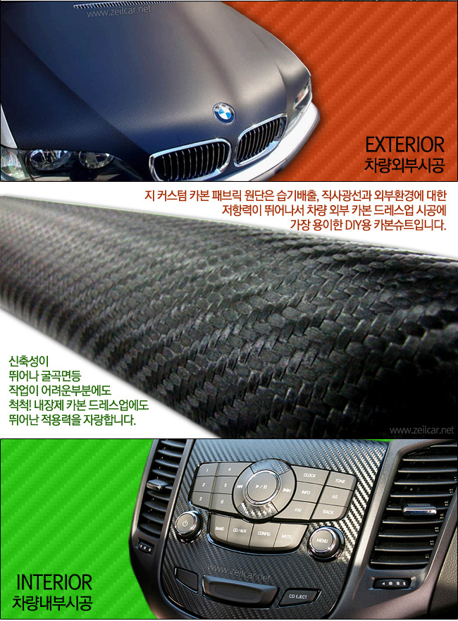 지커스텀 카본패브릭 DIY원단, 자동차용품