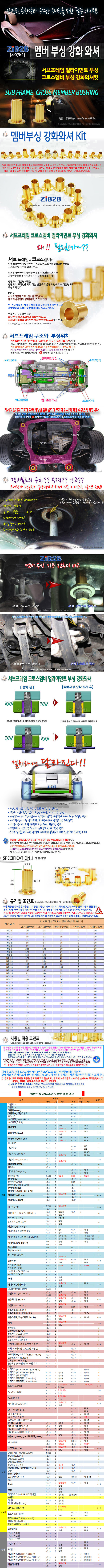 [ZiB2B] 맴버 부싱 _ 코너링향상, 쏠림방지,뒤틀림방지, 하체단단함